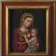 Antique Oil Painting - Madonna & Child - Dalmation School