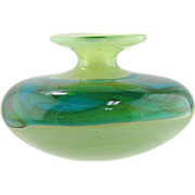 SOLD MDINA Art Glass Vase - Sea & Sand Pattern