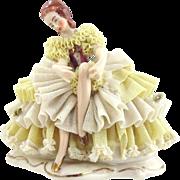 German Porcelain Ballerina Figurine