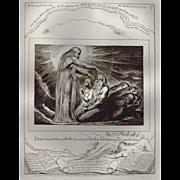 Antique Engraving by William Blake - Book of Job, circa 1874