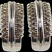 Diamond Earrings 14kt White Gold