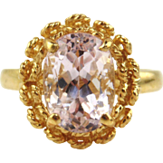 Kunzite Ring 14kt Yellow Gold
