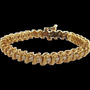 14kt Yellow Gold Diamond Tennis Bracelet-3cts
