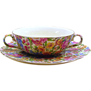 Chintz Soup Bowl and Plate - Portland, Erphila