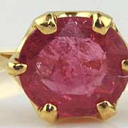 Red Spinel Ring 14kt Yellow Gold