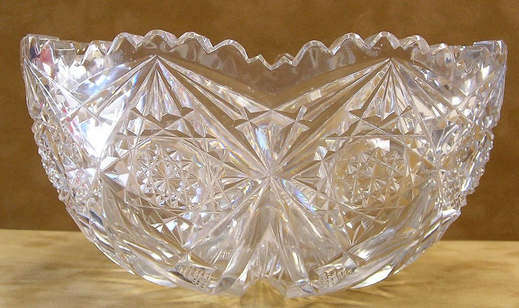 Libbey American Brilliant Period Cut Glass Bowl From
