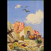 Conestoga Wagon, Original Watercolor Painting by Walt Howarth