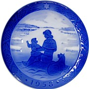 1958 Christmas Collector's Plate by Royal Copenhagen