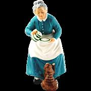 Royal Doulton Figurine - The Favorite  -  Woman & Cat