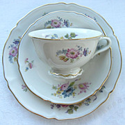 Hutschenreuther Selb BAVARIA Three Piece Luncheon Set