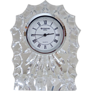 SOLD WATERFORD Crystal Desk/Mantle Clock