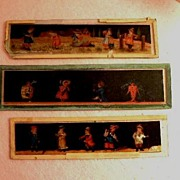 SOLD Three (3) Magic Lantern Glass Slides Plates - Red Tag Sale Item
