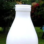 SALE Milk Glass Fresh Milk Bottle with Cow E Giciu