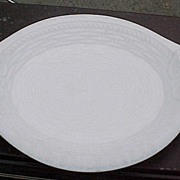 REDUCED Milk Glass Bread Tray Atterbury Glass 1874