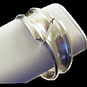 REDUCED ANTONIO PINEDA 970 Sterling Hinged Modernist Clamper Cuff Bracelet