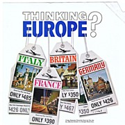 1961 Ads - PAN AM - 'Thinking Europe?' / BAHAMAS - 'Roughing it...royally' (on reverse)