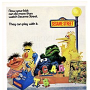 1971 Ad - Topper SESAME STREET TOYS - 'Now your kids can do more than watch Sesame ...