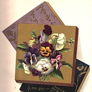 Antique PRINT - 'Rare Specimens of Heartsease PANSIES' ~ Victorian Chromolithograph c.1880s