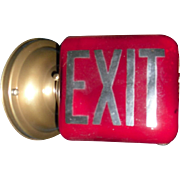 Red Exit Light Fixture - Wall Mounted