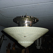 Art Deco Flush Mount Ceiling Light Fixture