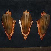 Markel Art Deco Slip Shade Wall Sconces - 4 available