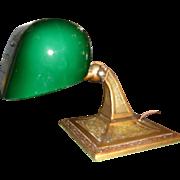 Aladdin Adjustable Desk Lamp - Original Green Cased Shade
