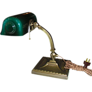 Amronlite Adjustable Desk Lamp - signed -- Green Cased shade