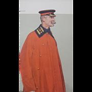 1906 Original Vanity Fair Military Print ~ Lt. Col. Anstruther - Thomson