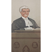 1902 Original Vanity Fair Legal / Judge Print of the Honourable Sir Joseph Walton
