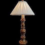 SALE Vintage Italian Gold Leaf Candlestand Lamp