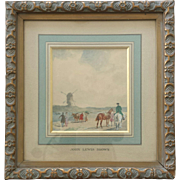 SALE Fine Framed 19th Century French Watercolor Painting by John Lewis Brown (1829-1890)