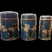 SALE Vintage Chinese Cloisonné Enamel Nesting Boxes