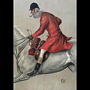 1897 Original Vanity Fair Fox Hunter Print - Blackmore Vale