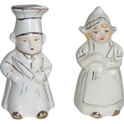 SALE Dutch Boy and Girl salt and pepper shakers