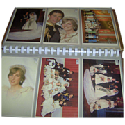 SALE Postcard Album - Royal Wedding 1981