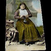 Postcard - Paysanne de Corfou