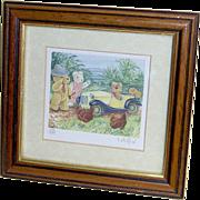 SALE LAST CHANCE SALE!  Christopher Whitford - Miniature Print - Teddy Bears