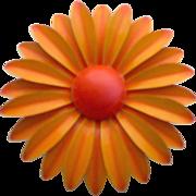 SALE Large Enameled Floral Brooch