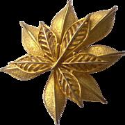SALE Double Leaf Brooch by Coro