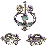 SALE Brooch and Earring Set