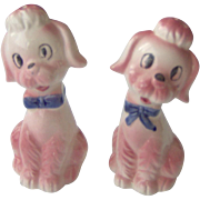 SALE Cute Pink Poodles salt and pepper shakers