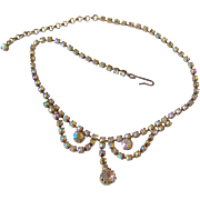 SALE Aurora Boreallis Rhinestone Necklace
