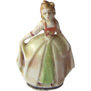 Tiny Lady Figurine made in Occupied Japan
