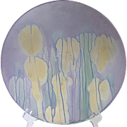 SOLD Decorative Rueven art glass plate