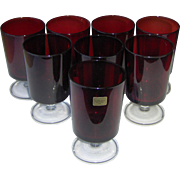 Luminarc Ruby Red Water Glasses