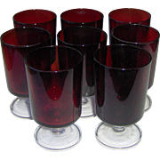 Luminarc Red Ruby Wine Glasses