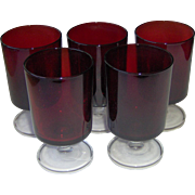 Luminarc Ruby Red Wine Glasses