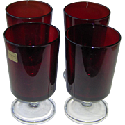 Lumincarc Ruby Red Water Glasses
