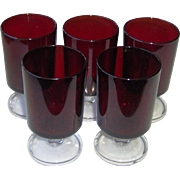 Luminarc Red Ruby Small Wine Glasses