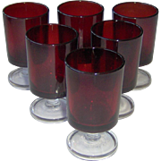 Luminarc Red Ruby Cordial Glasses
